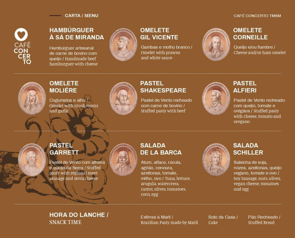 Ementa Café Concerto
